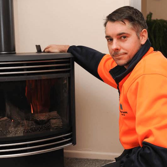 Winter Fireplace Service